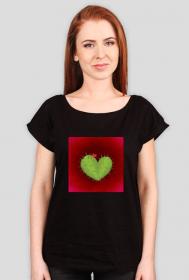 KaktuSerce - koszulka damska czarna