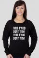 Don't try - bluza damska czarna
