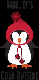 ŚWIĄTECZNY KUBEK Z PINGWINEM - BABY IT'S COLD OUTSIDE