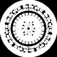 Cyberpunk Mandala Biała