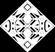 Abstrakcyjny wzór wpisany w kwadrat