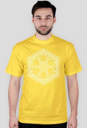 Heksagon Fraktal Biały
