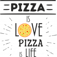 Pizza is love bluza męska