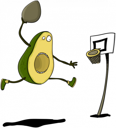 Bluza z Avocado - Basketball Avocado