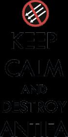 Keep calm and destroy antifa biała