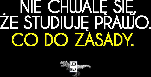 Nie chwalę się, że studiuję prawo - Bluza damska - LexRex