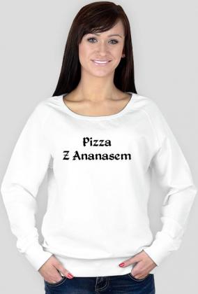 Bluza biała Pizza Z Ananasem