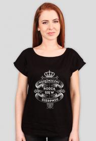 Czarna Koszulka Księżniczki rodzą się w Sierpniu