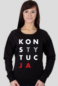 Damska Bluza Konstytucja Czarna