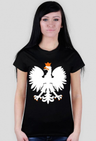 Damska Koszulka Orzeł Czarna