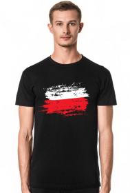 Męska Koszulka Flaga Czarna