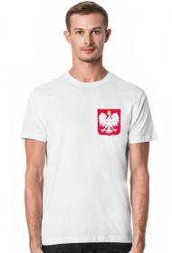 Męska Koszulka z Godłem Biała
