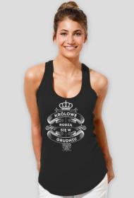 Koszulka na ramiączka Królowe rodzą się w Grudniu