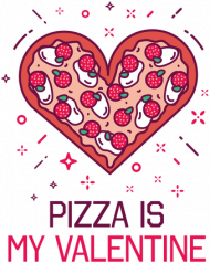 BLUZA ROZPINANA PIZZA IS MY VALENTINE