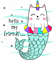 KOSZULKA CHŁOPIĘCA CAT HELLO MY FRIENDS