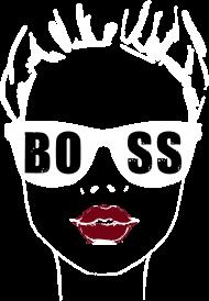 Koszulka damska Girl Boss - czarna