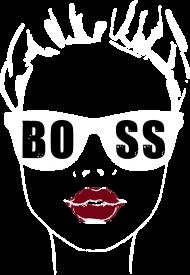 Koszulka damska V-neck Girl Boss - czarna