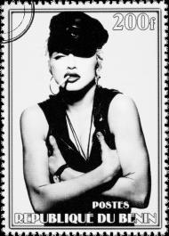 Bluza męska z kapturem Madonna 200f - czarna