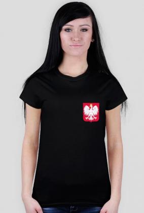 Damska Koszulka Godło Czarna