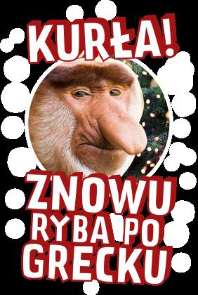 Koszulka Kurła znowy ryba po grecku