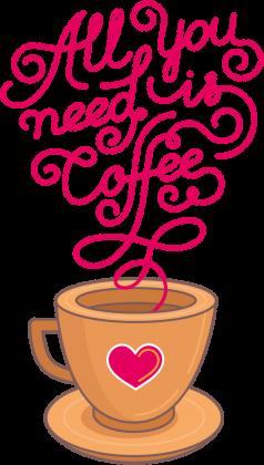 KOSZULKA ALL YOU NEED IS COFFE