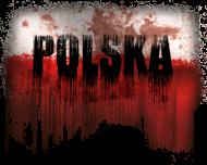 Poszarpana flaga Polski