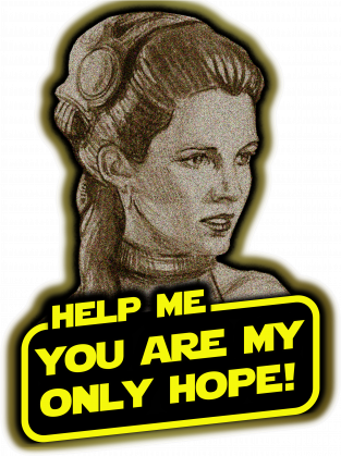 Koszulka Damska - HELP ME, YOU ARE MY ONLY HOPE! - Star Wars