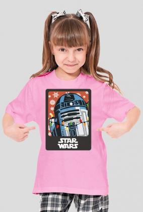 """Koszulka dla Dziewczyn - """"R2D2 Święta"""" - Star Wars"""