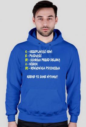 Bluza męska z kapturem Kebab to same witaminy