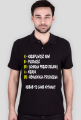 Koszulka polo męska czarna Kebab to same witaminy
