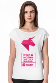 PIŁKA NOŻNA JEST DLA SŁABYCH- NDS Unihokej Koszulka damska