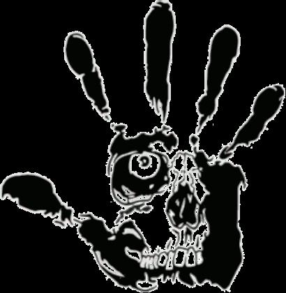 czaszka na dłoni