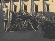 Comic Journey Cat Resting Maseczka