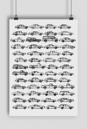 Plakat - samochody.