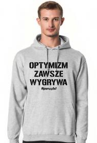 OPTYMIZM Bluza kaptur Szara