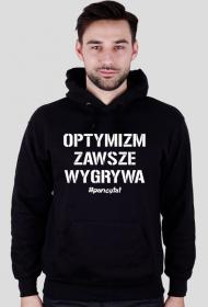 OPTYMIZM Bluza kaptur Black