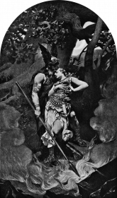 Wotan takes leave of Brunhild