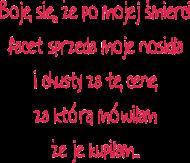 Koszulka Damska Boję się 2...