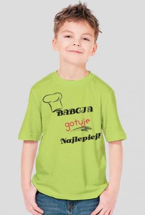 Koszulka Chłopięca Babcia gotuje najlepiej