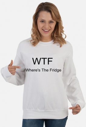 WTF Where's The Fridge (biała i szara)