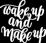Koszulka Wake up and make up czarna
