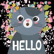 Koszulka Kot Hello