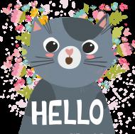 Koszulka z Kotkiem Hello dla dzieci