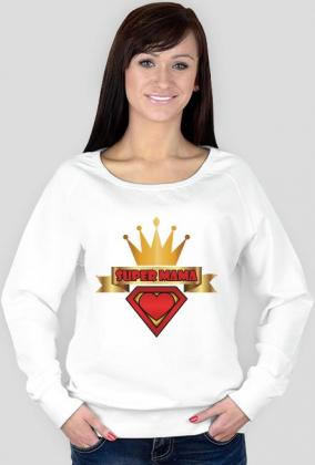 Bluza Super Mama biała