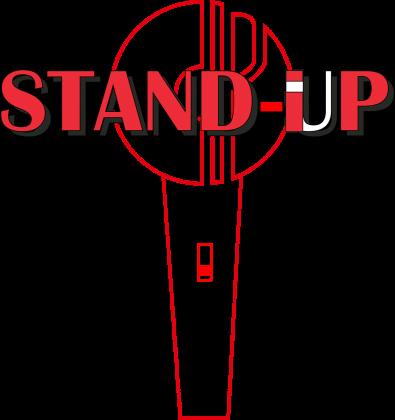 black (T-shirt Slim STANDIP)