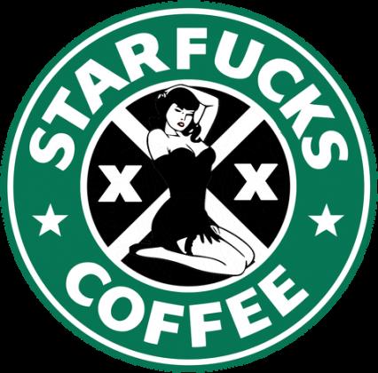 Starbucks coffee logo parody czapka Starfucks