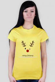Koszulka z reniferem puszczającym oko