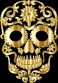 Koszulka czaszka - Złota czaszka - męska