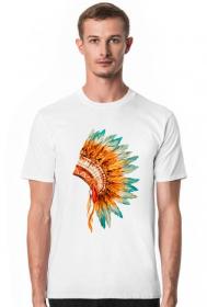 Koszulki indiańskie - Koszulka z pióropuszem indiańskim - męska