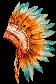 Koszulki indiańskie - Koszulka z pióropuszem indiańskim - damska